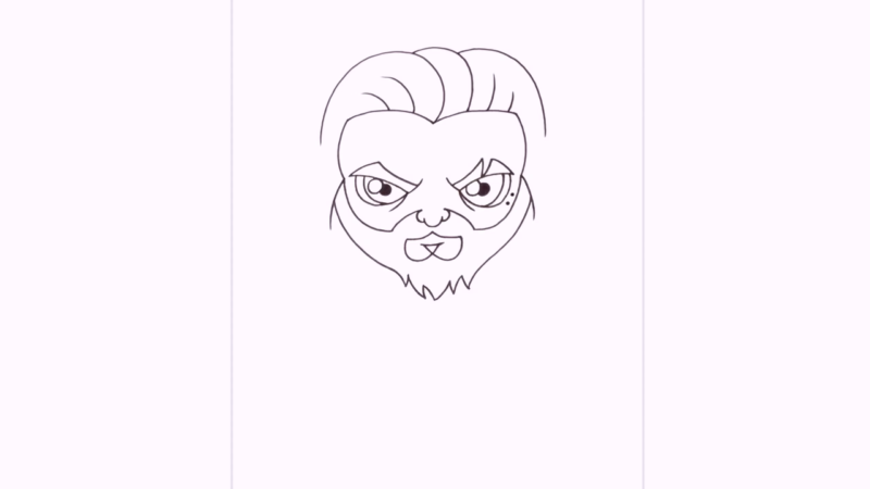 Как нарисовать Аквамена из фильма 10