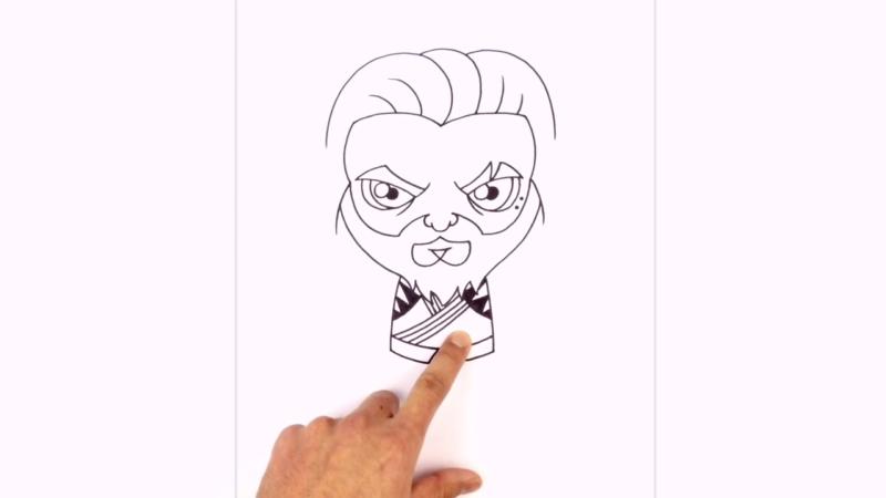 Как нарисовать Аквамена из фильма 14