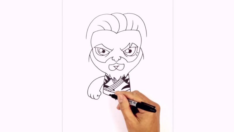 Как нарисовать Аквамена из фильма 15