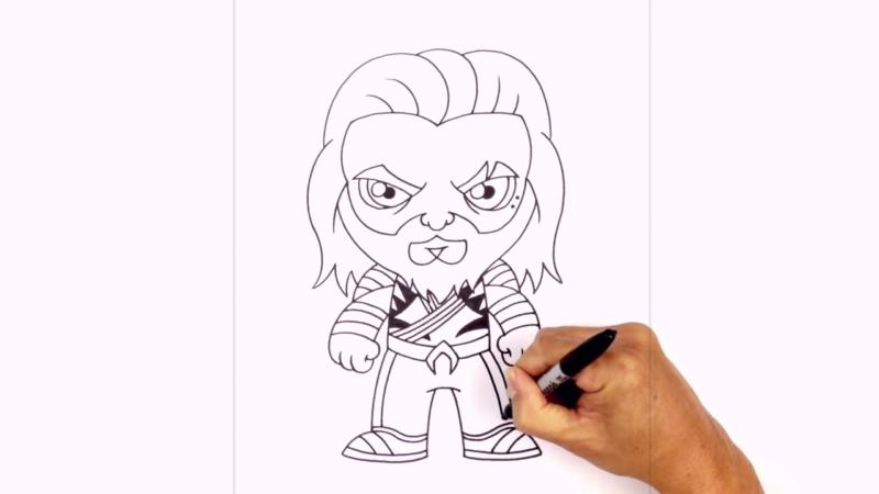 Как нарисовать Аквамена из фильма 20