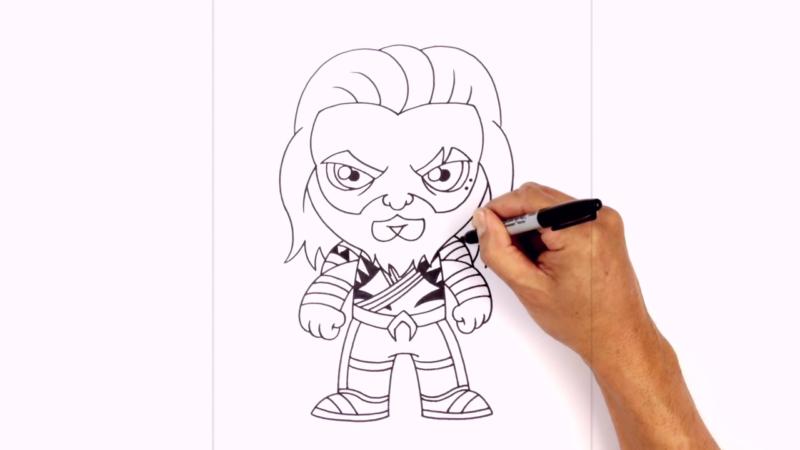 Как нарисовать Аквамена из фильма 21