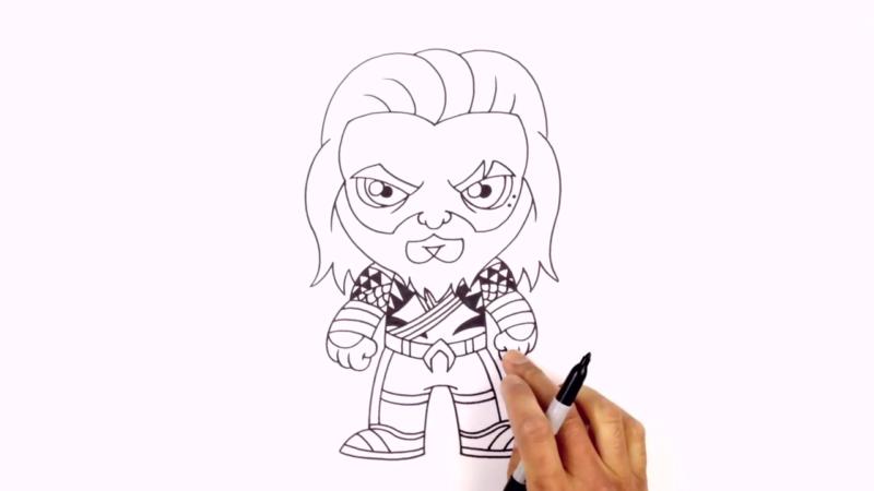 Как нарисовать Аквамена из фильма 24