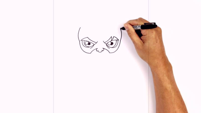 Как нарисовать Аквамена из фильма 6
