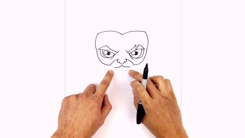 Как нарисовать Аквамена из фильма 7