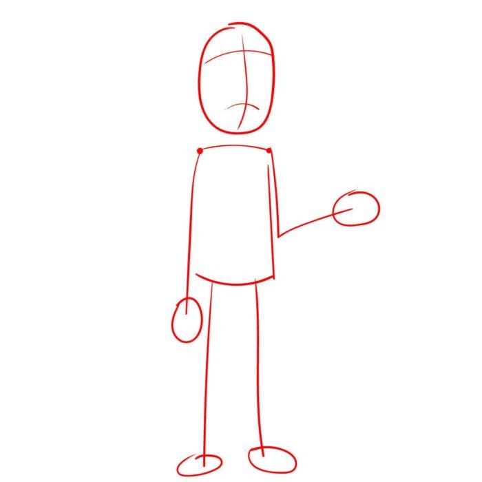 Как поэтапно нарисовать Джерри Смита 1
