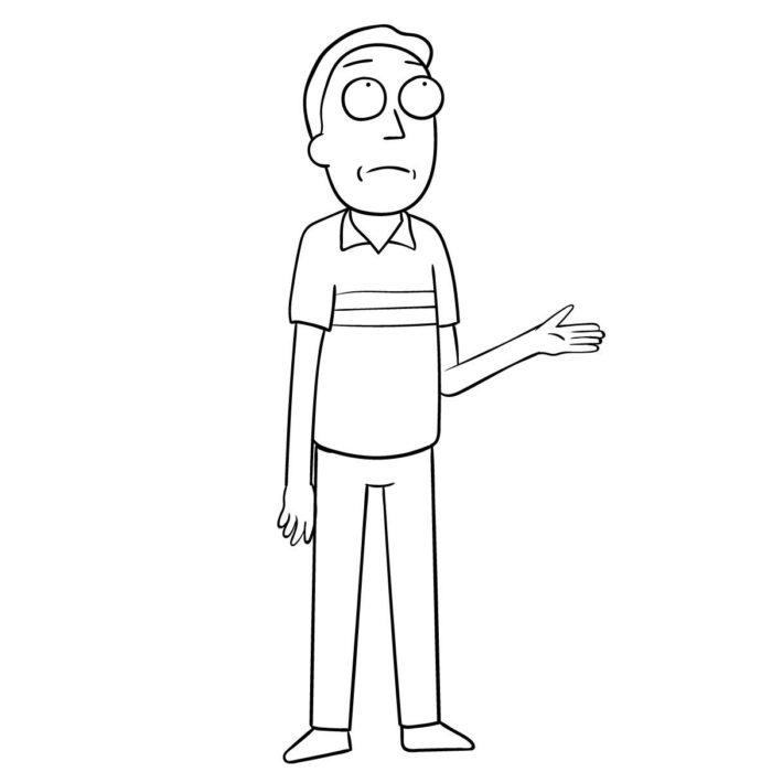 Как поэтапно нарисовать Джерри Смита 11