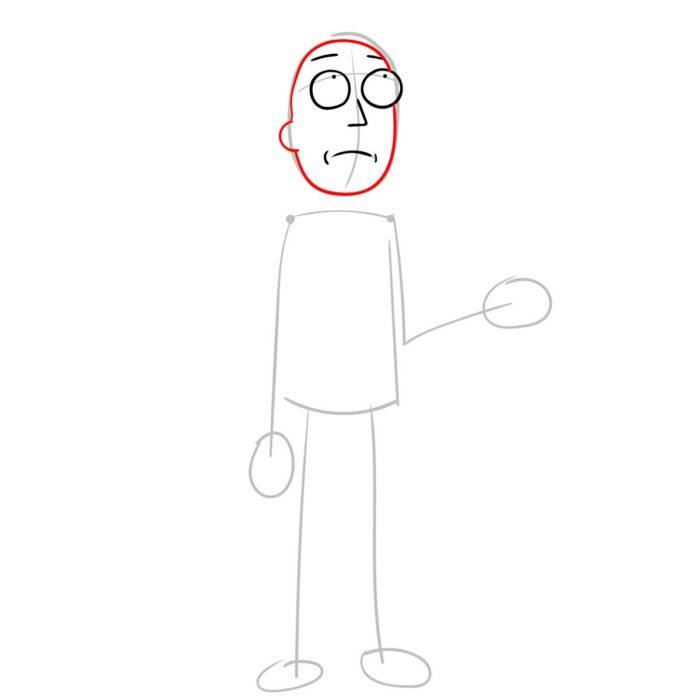 Как поэтапно нарисовать Джерри Смита 3