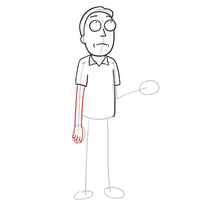 Как поэтапно нарисовать Джерри Смита 6