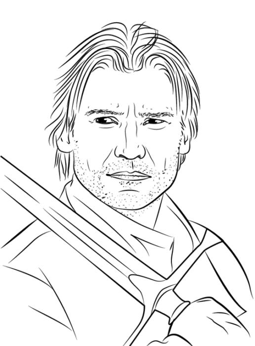 как нарисовать Джейме Ланнистера 1