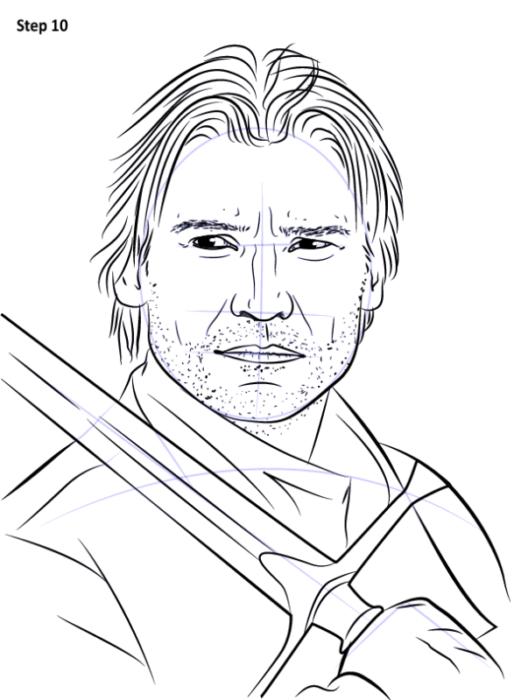 как нарисовать Джейме Ланнистера11