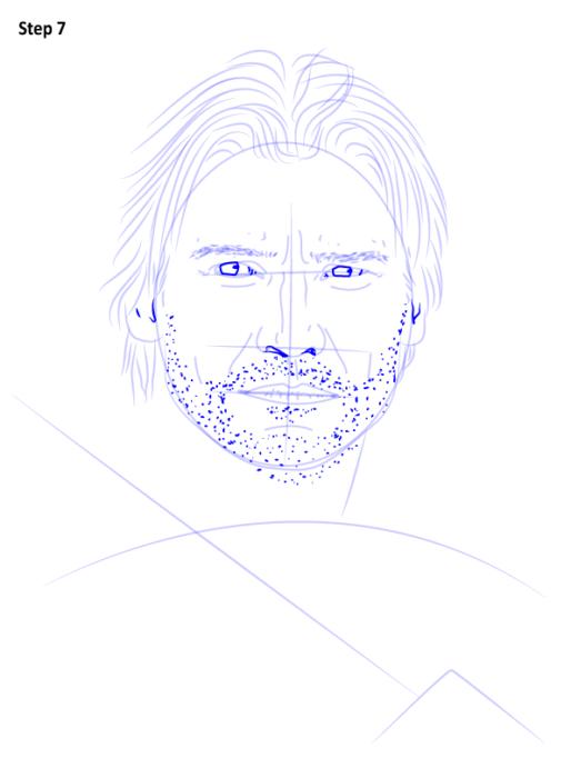 как нарисовать Джейме Ланнистера8