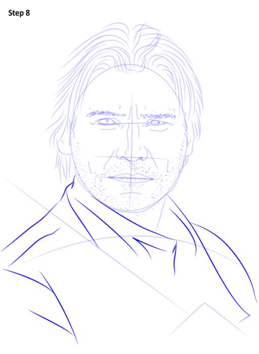 как нарисовать Джейме Ланнистера9
