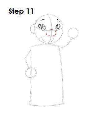 Как нарисовать Лило из мультфильма 11