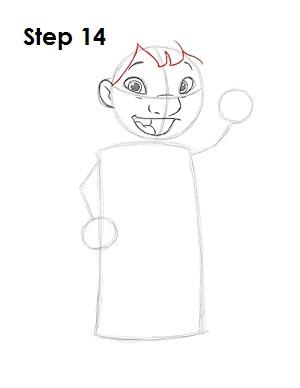 Как нарисовать Лило из мультфильма 14