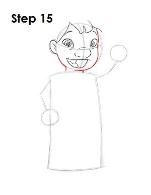 Как нарисовать Лило из мультфильма 15