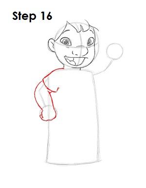 Как нарисовать Лило из мультфильма 16