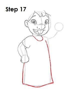 Как нарисовать Лило из мультфильма 17