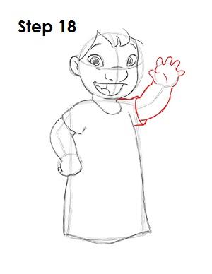 Как нарисовать Лило из мультфильма 18