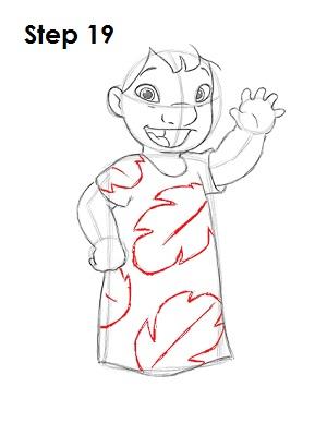 Как нарисовать Лило из мультфильма 19