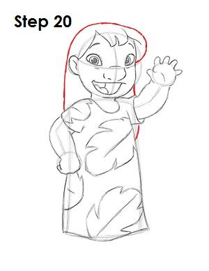 Как нарисовать Лило из мультфильма 20
