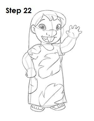 Как нарисовать Лило из мультфильма 22