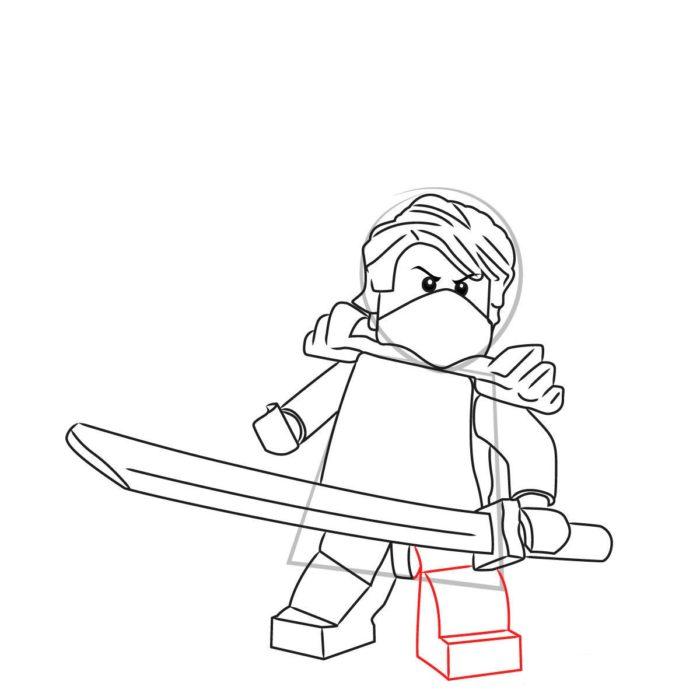 Как нарисовать Ллойда из Лего 10