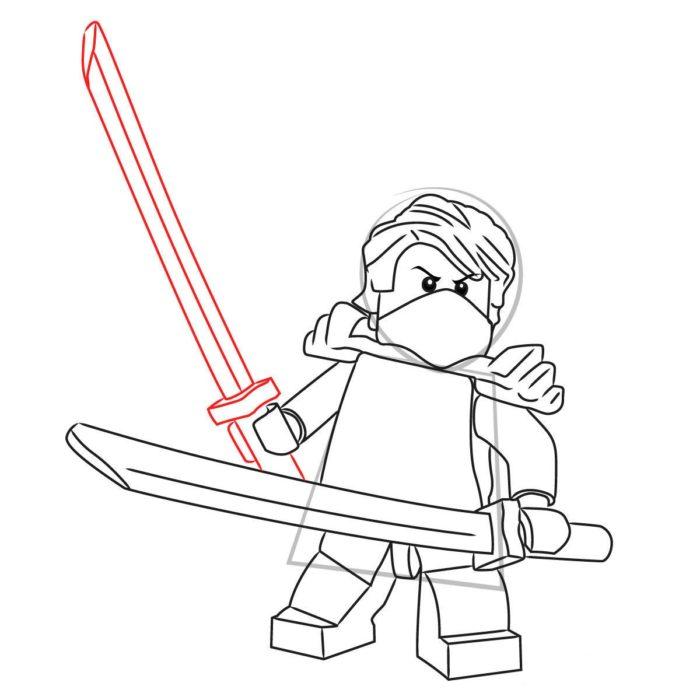 Как нарисовать Ллойда из Лего 11