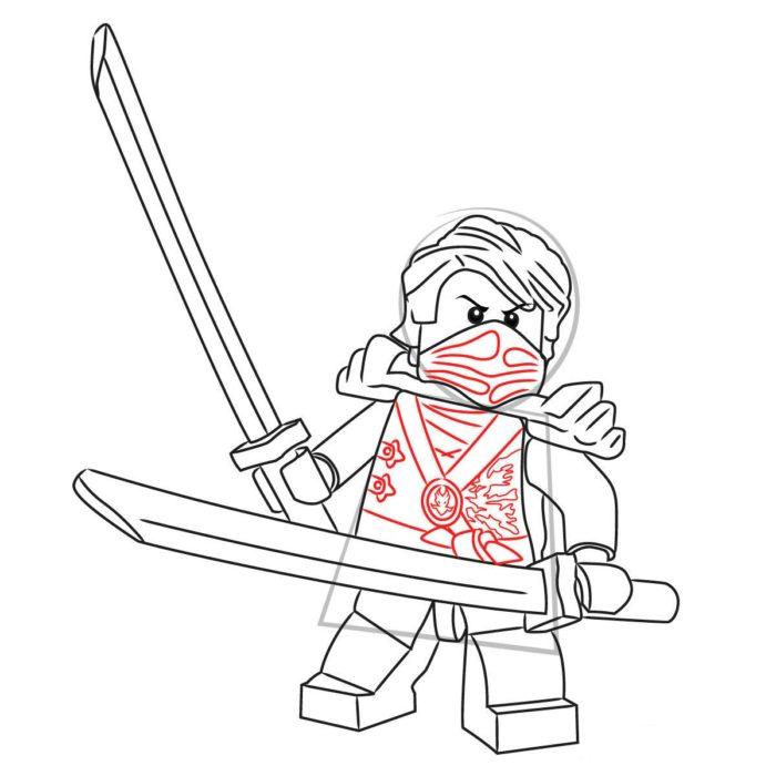 Как нарисовать Ллойда из Лего 12