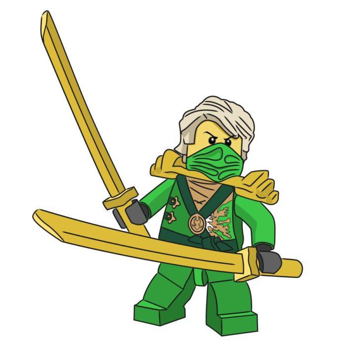 Как нарисовать Ллойда из Лего 14