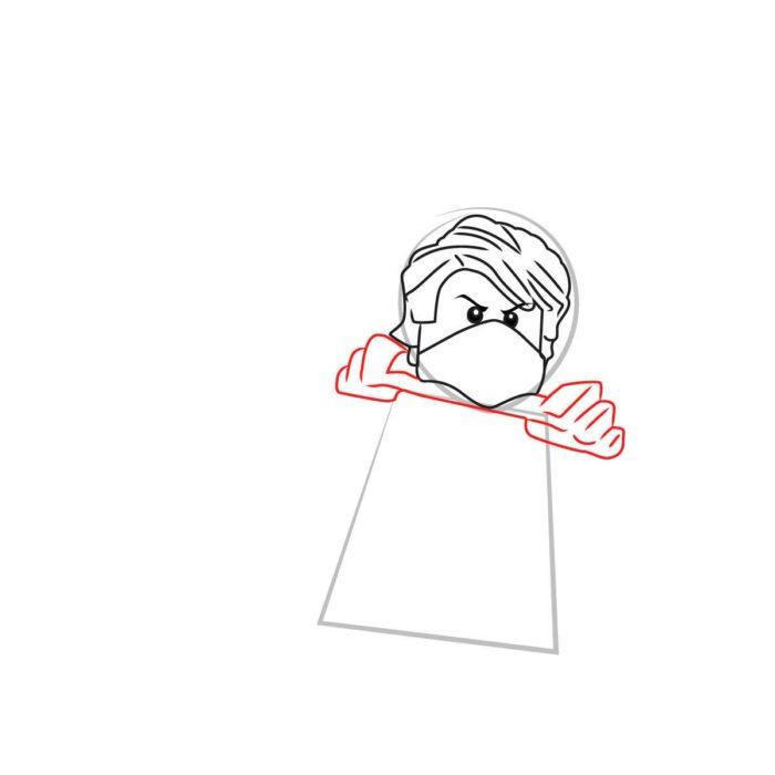 Как нарисовать Ллойда из Лего 4