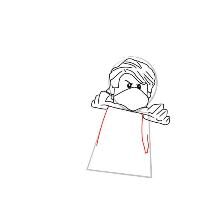 Как нарисовать Ллойда из Лего 5