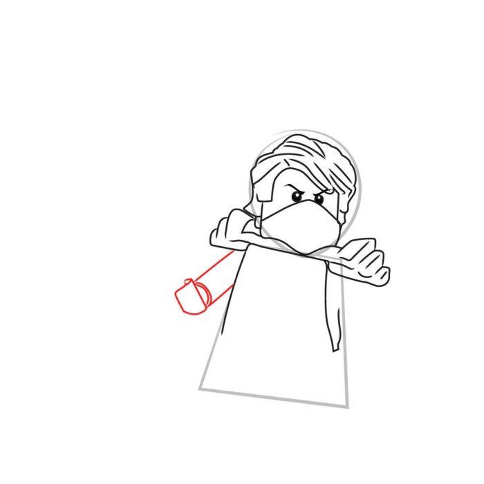 Как нарисовать Ллойда из Лего 6