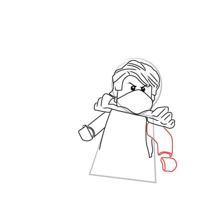 Как нарисовать Ллойда из Лего 7