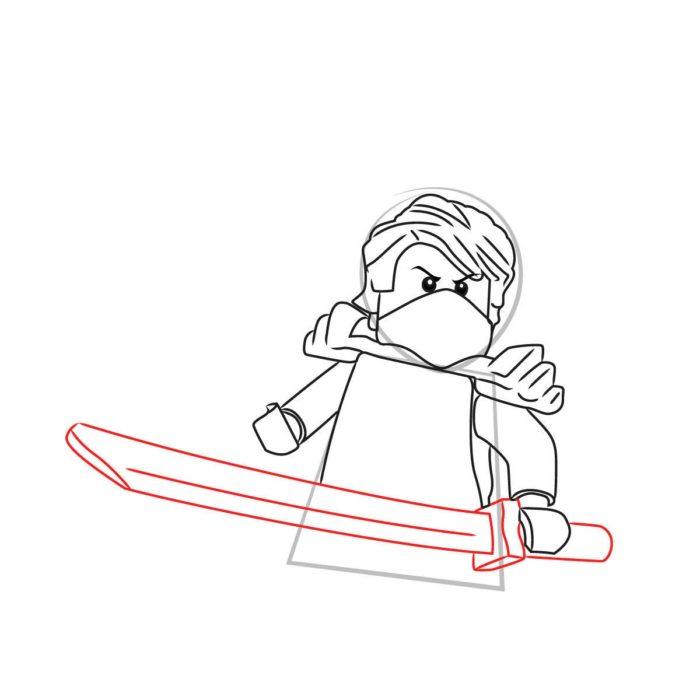 Как нарисовать Ллойда из Лего 8