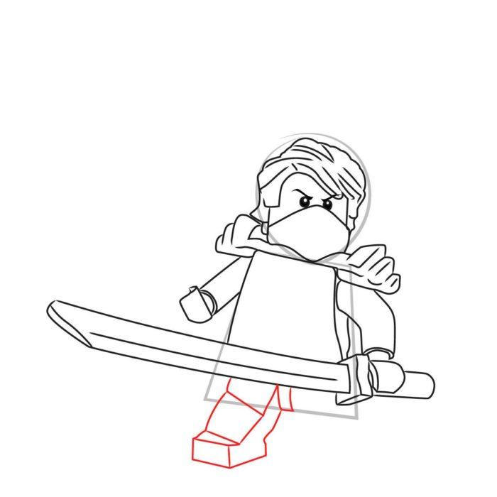 Как нарисовать Ллойда из Лего 9