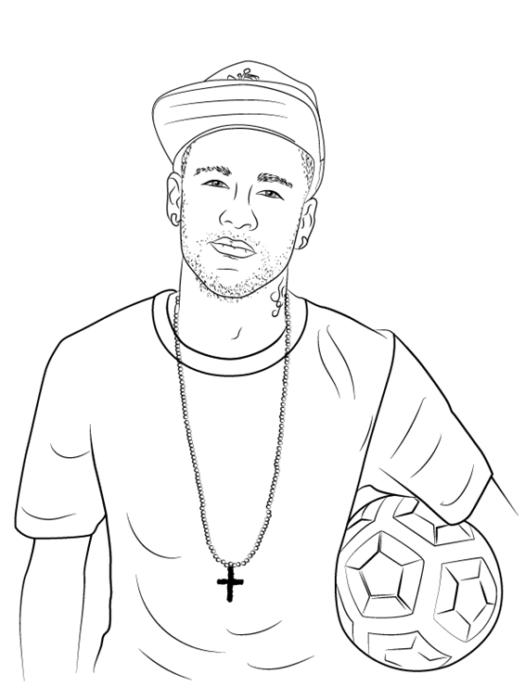 Как нарисовать футболиста Неймара 1