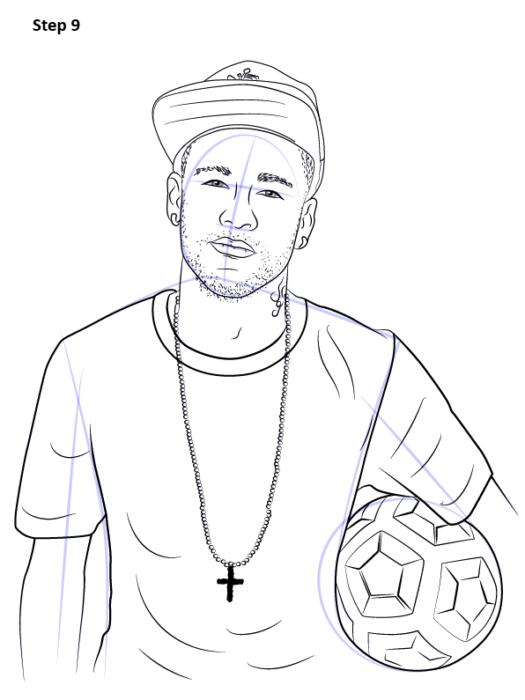 Как нарисовать футболиста Неймара 10