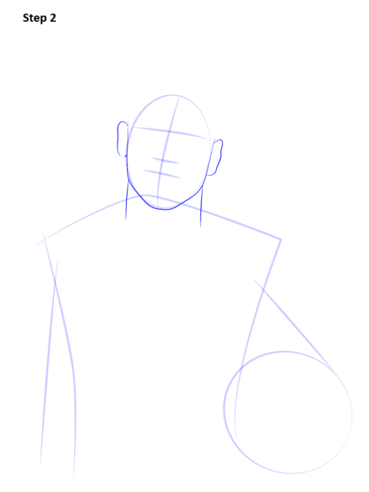 Как нарисовать футболиста Неймара 3