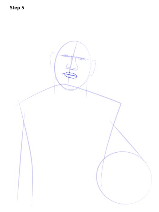 Как нарисовать футболиста Неймара 6