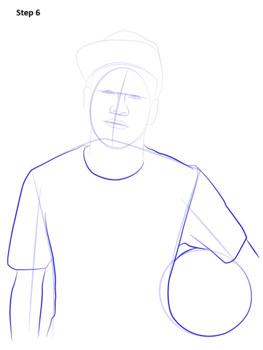 Как нарисовать футболиста Неймара 7
