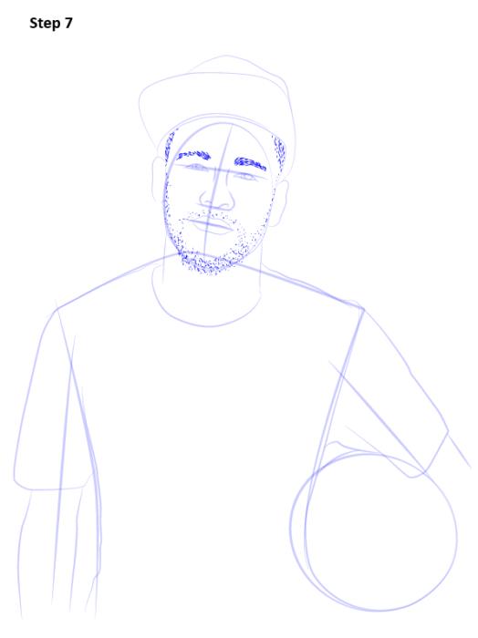 Как нарисовать футболиста Неймара 8