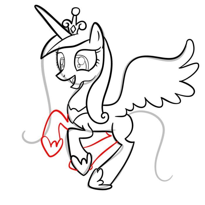 как поэтапно нарисовать принцессу Каденс 10