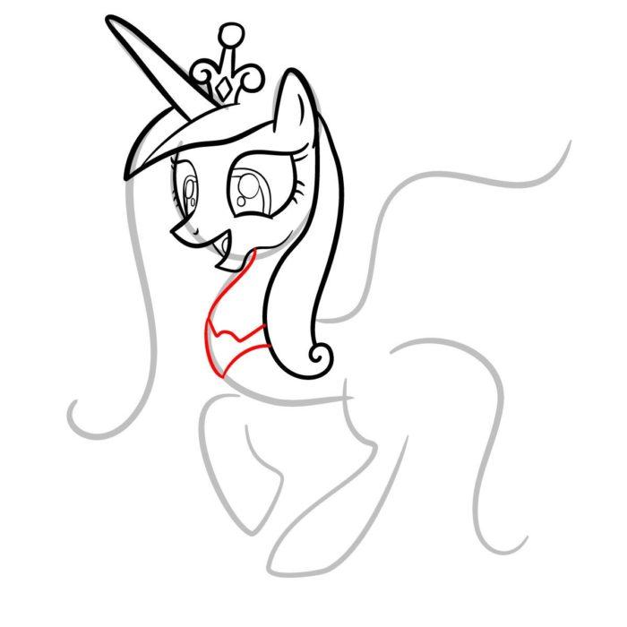 как поэтапно нарисовать принцессу Каденс 6