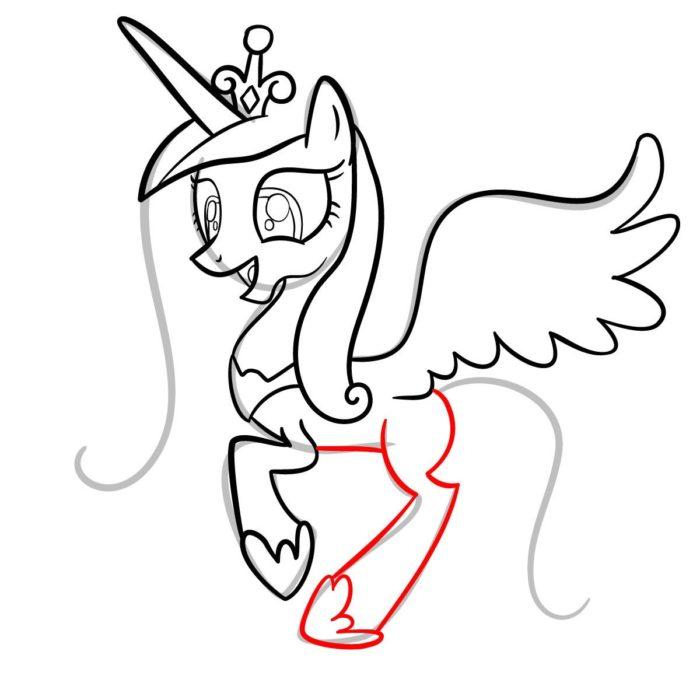 как поэтапно нарисовать принцессу Каденс 9