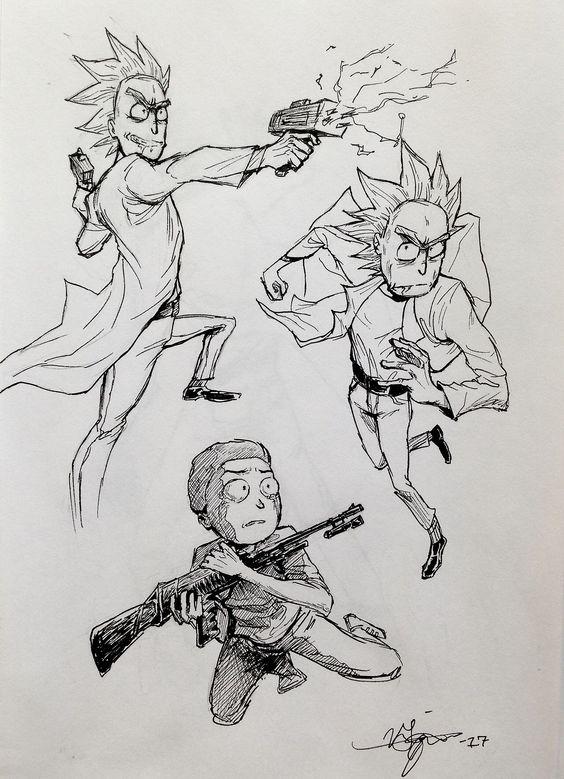 Картинки для срисовки Рика и Морти 17