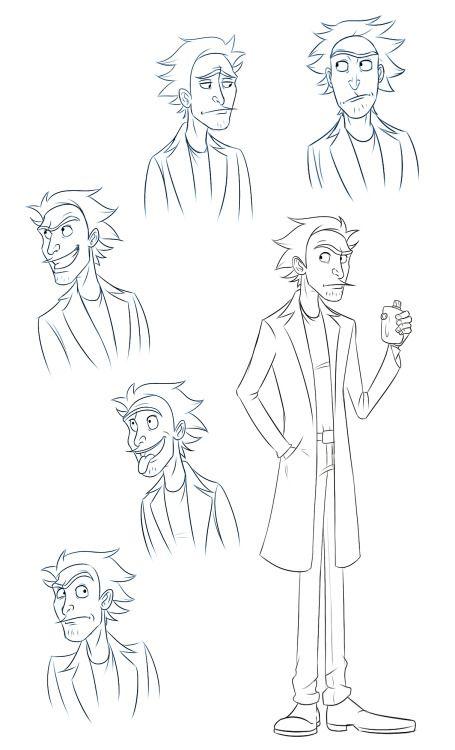 Картинки для срисовки Рика и Морти 7