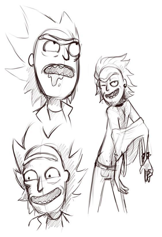 Картинки для срисовки Рика и Морти 8