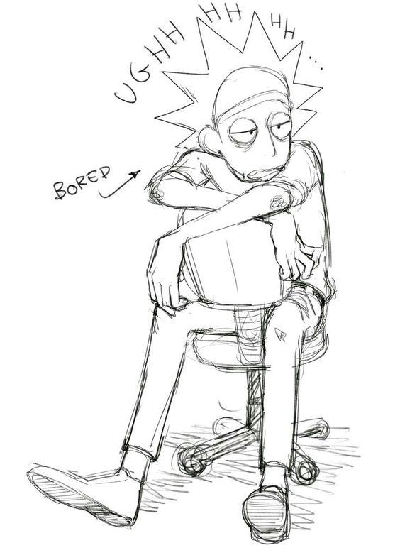 Картинки для срисовки Рика и Морти 9