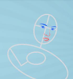 как нарисовать Джин Грей 3