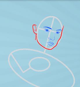 как нарисовать Джин Грей 4